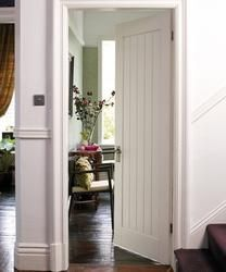 Howdens Joinery primed stile and rail doors are constructed using engineered timber stile and rail with MDF facings and dowelled joints. & Victorian 4 panel oak internal door - doors wood u0026 painted frame ... pezcame.com