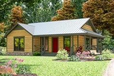 This country style compact efficient three bedroom home plan has a wraparound front porch with columns.The third bedroom is an optional study/office.The washer and dryer are located in the kitchen.As an added bonus this house plan comes with a matching detached 2-car garage.Related Plan: Get remove a bathroom with house plan 31047D.IMPORTANT NOTE:Due to state regulations, the CAD version may not be sold to residents of Alabama, Louisiana, New Mexico, Tennessee and Texas. If residing in any of t