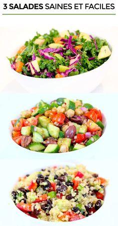 3 recettes de salade saines et faciles - Santé Nutrition