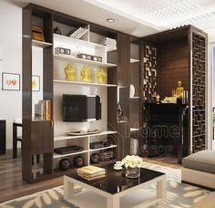 Tv Unit Furniture Design, Flat Interior Design, Modern Tv Wall Units, Living Room Tv Unit Designs, Pooja Room Door Design, Narrow Rooms, House Shelves, Pooja Rooms, Hall Design