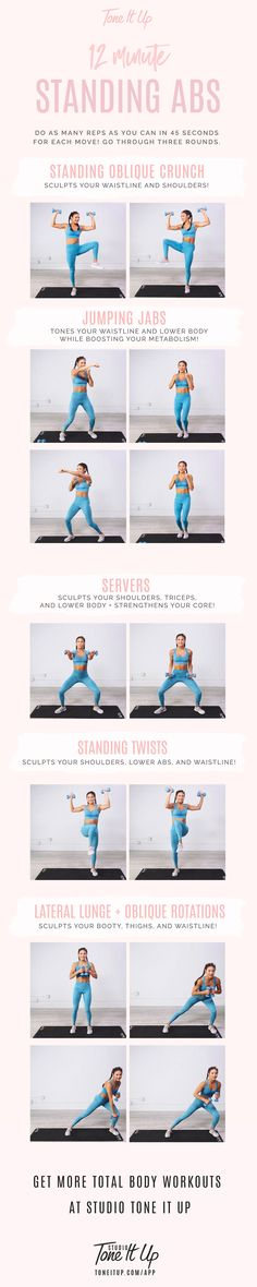 12 minute Standing Abs Workout | Posted By: NewHowToLoseBellyFat.com