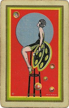 vintage playing card bubbles by Millie Motts, via Flickr
