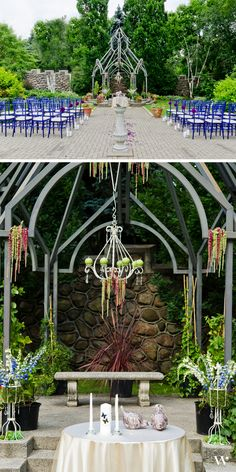 Outdoor garden wedding ceremony | Casa Loma | See the entire styled shoot here: http://issuu.com/weddingstar/docs/weddingstar-contemporary-garden-lookbook