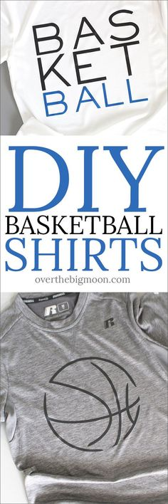 DIY Kids Basketball Shirts using your Cricut - Over the Big Moon Cricut Heat Transfer Vinyl, Diy Gifts For Mom, Adult Fun, Fun Projects, Vinyl Projects, Project Ideas, Easy Diy Crafts, Do It Yourself Home, Diy Shirt