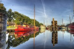 Den Helder; Sunrise over Boerenverdriet by klaash63, via Flickr