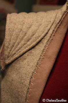 Rey's Resistance Jacket lining and sleeve detail with embroidery. (Star Wars tutorial)