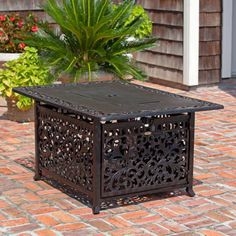 Fire-Pit-Table-Propane-Outdoor-Backyard-Patio-Gas-Heater-Fireplace-Deck-W-Cover