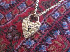 Vintage gold padlock charm (Photo by Cheryl-Anne Millsap)