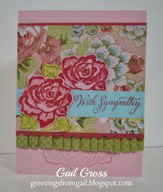 Sympathy Card, Rosy Regards, Ariana, Close To My Heart, CTMH, blush and hollyhock