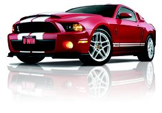 2013 Mustang GT500 w/super snake hood in Candy Apple Red. What a gorgeous muscle car! Enter to win it by 7/4/2013 at:  http://www.winthemustangs.com.   Promo code: TP0513M = double tickets.