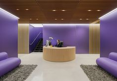 The use of violet makes this project modern and fresh! Lovely Colour in Architecture entry designed by Paul Murdoch Architects. The project is located in Menlo Park, United States. (c) Eric Staudenmaier Photography.