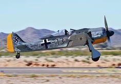 A restored Focke-Wulf Ww2 Aircraft, Military Aircraft, Focke Wulf 190, Old Planes, Ww2 History, Korean War, Nose Art, Luftwaffe, World War Ii