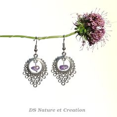 Natural amethyst jewelry dangle chandelier by DSNatureetCreation www.etsy.com/listing/236799297/natural-amethyst-jewelry-dangle
