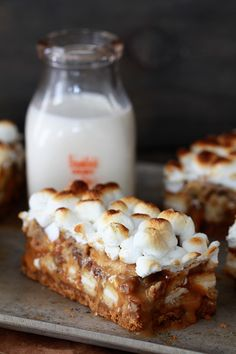 Dulce de Leche Banana Cookie & Cream Bars...the name is long but you'll be surprised how simple the ingredients are!
