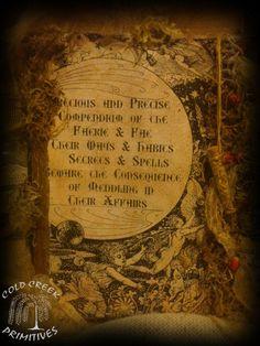 Primitive Spellbook Book of Faerie Halloween Prop