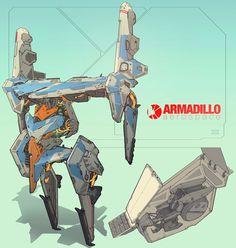 ArtStation - Armadillo Aerospace Exoframe, Su Wang