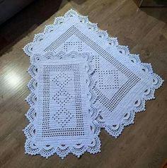 Free Crochet, Bathroom Mat, Crochet Carpet, Luxurious Rugs, Carpet Runner, Kitchen Playsets, Table Runners, Cats, All Free Crochet