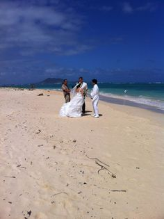 Marriage at Lanikai Beach. Submitted by Renata Vicente. #pinHawaii