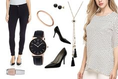 Polished and professional.  I love the neutrals in this office-ready outfit.