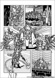 Cs&Cs wordless webcomic page 2000ad, Star Fox, Rocket Raccoon, Teddybear, Cogs, Tmnt, Gundam, Starwars, Transformers