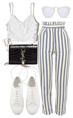 """Untitled #2507"" by mariie00h ❤ liked on Polyvore featuring Hollister Co., Topshop, Karen Walker and Yves Saint Laurent"