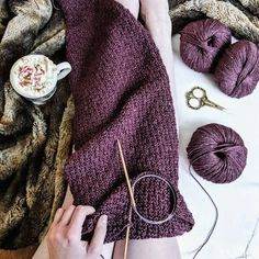 She Conquers Tassel Scarf knitting pattern by Lindsey Faciane / The Chesapeake Needle  on THNLife Blog : Easy : FREE knitting pattern