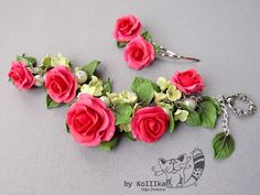 Bracelet Rose and Hydrangea by polyflowers on DeviantArt