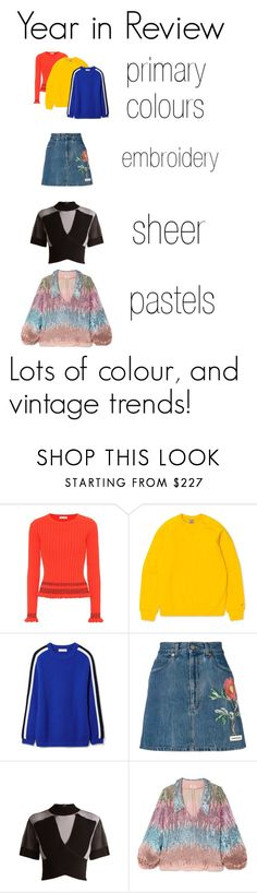 """Year in Review: My favourite trends"" by moondust-and-earthlight ❤ liked on Polyvore featuring Altuzarra, Tory Burch, Gucci, Balmain and RIXO London"