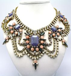One of a Kind Statement Necklace Prague by DolorisPetunia on Etsy   LOVE