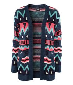 sweater knit cardigan ethnic ethinc print aztec aztec print ethnic pattern aztec pattern blue green pink purple black colorful geometric sold out autumn winter 2012 2012-2013 pullover h&m cardigan knit sweater