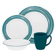 $130  Corelle Boutique Brushed 16-Pc Dinnerware Set, Turquoise /w 3 Bonus Clips Corelle Coordinates http://www.amazon.com/dp/B010Y5R4A4/ref=cm_sw_r_pi_dp_.RwQwb103QZTY