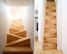 Fun Stairs Tight Spaces designed by Gabriella Gustafson and Mattias Ståhlbom from TAF Arkitektkontor in Stokholm, Sweden.