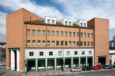 """Palazzo per uffici """"Casa Aurora"""", Aldo Rossi. © Angelo Morelli Aldo Rossi, Brick Architecture, Angelo, Names, Contemporary, History, Building, Design, Historia"""