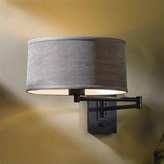 shop hubbardton forge 209250 skt simple swing arm wall sconce at the mine browse - Bedroom Swing Arm Wall Sconces