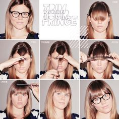 If you absolutely have to cut your own fringe…