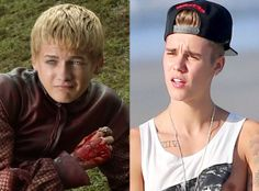 """11 Reasons why Justin Bieber and Joffrey are bascially the same - The Beibs better pray he doesn't get all """"Purple Wedding-ed"""" like Joffrey, lol."""
