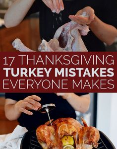 17 Thanksgiving Turkey Mistakes Everyone Makes. I'm cooking Turkey for the first time this Thanksgiving and I WILL be reading this again! First Thanksgiving, Thanksgiving Recipes, Fall Recipes, Holiday Recipes, Hosting Thanksgiving, Thanksgiving Sides, Christmas Desserts, Pumpkin Recipes, Recipes Dinner