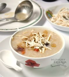 A Lovely Pot Of Home-Cooked Chicken Congee