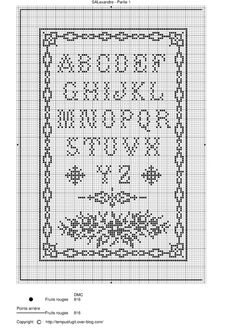 Cross Stitch Letters, Cross Stitch Samplers, Cross Stitching, Embroidery Sampler, Cross Stitch Embroidery, Crochet Letters, Cross Stitch Freebies, Little Stitch, Needle Book