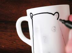 DIY - Pintar platos y tazas de porcelana - Estilo nórdico   Blog decoración   Muebles diseño   Interiores   Recetas - Delikatissen