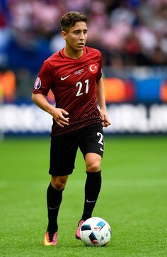 Emre Mor of Turkey in action during the UEFA EURO 2016 Group D match between Turkey and Croatia at Parc des Princes on June 12, 2016 in Paris, France.