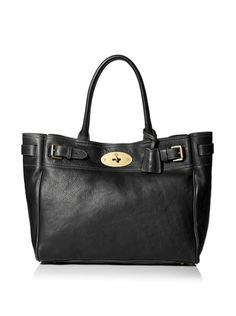 Mulberry Bayswater Tote Black Brass