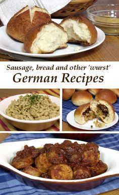 From sausage to bread and other hearty dishes, this collection of German recipes is perfect for your Oktoberfest celebration. Austrian Recipes, German Recipes, Swiss Recipes, Austrian Food, Hungarian Recipes, Sausage Recipes, Cooking Recipes, Brats Recipes, Meal Recipes