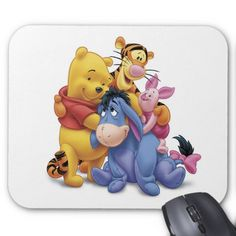 Winne the Pooh and Friends Disney Mouse Pad. Beautiful Disney merchandise to personalize. Winne The Pooh, Disney Winnie The Pooh, Baby Disney, Create Your Own Poster, Disney Mouse, Custom Mouse Pads, Eeyore, Disney Merchandise, Marketing Materials