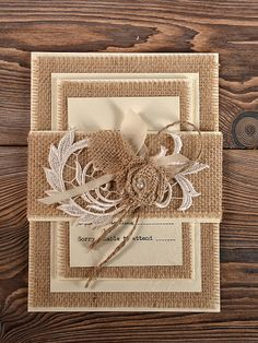 natural burlap wedding invitation, country style wedding, Wedding invitations