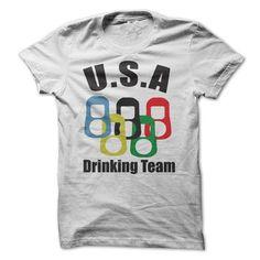 USA drinking team T Shirts, Hoodies, Sweatshirts. CHECK PRICE ==► https://www.sunfrog.com/Funny/USA-drinking-team.html?41382