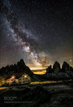 Milky way near Locatelli refuge milky way on the Lavaredo three peaks...was a…