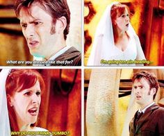 So because of this I am definitely watching Doctor Who tonight. Since I am on S3 E1.... I LOVE THE DOCTOR AND DONNA. She's like my favorite right after Rose :)