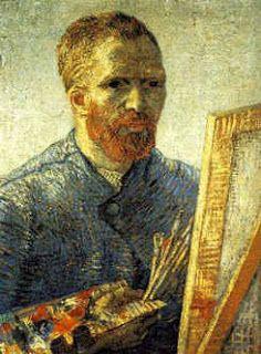 Charles Fonseca: Auto-retrato diante de um cavalete. Van Gogh. Pint...