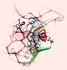 Ilustración, dibujo, arte, color y líneas